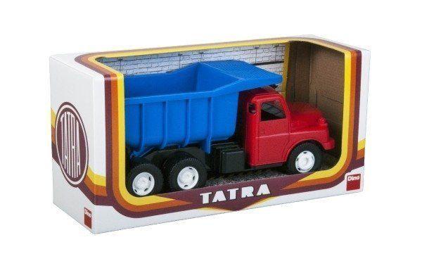 Teddies Auto Tatra 148 plast 30cm červenomodrá sklápač v krabici