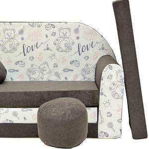 Rozkladacia detská pohovka Nellys ® 87R - Medvídek love