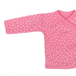 Mamatti Novorodenecká Bavlnená Košieľka Zapínanie Bokom, Princezná Bodky - Ružová