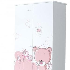 Babyboo Detská skriňa - Macko ružový, D19