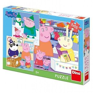 Rappa Puzzle 3x55 Prasiatko Peppa