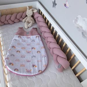 Baby Nellys Spací Vak Vafel, Bavlna Lux - Duha