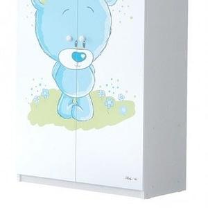 Babyboo Detská skriňa - Macko modrý, D19