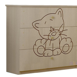 BabyBoo Detská komoda - Mačička