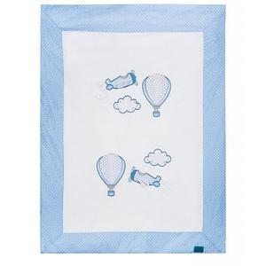5-Dielne Posteľné Obliečky Belisima Lietadlá 100/135 Modré