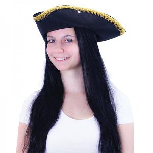 Rappa Klobúk pirátsky KLASIK pre dospelých
