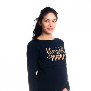 Be maamaa tehotenská, dojčiaca nočná košeľa blessed mama - granátová, b19