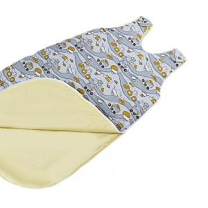 Baby Nellys Bavlnený spací vak Stoje - sivý, 48x80cm
