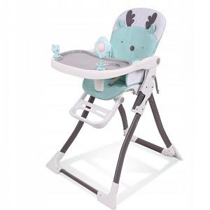 Eco toys Jedálenská stolička - Sobík tyrkys