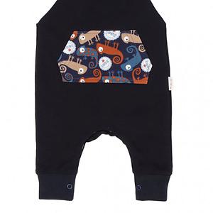 Mamatti Detské laclové nohavice, Chameleon - čierne