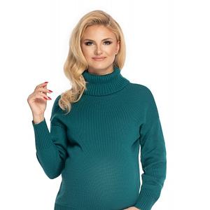 Be Maamaa Tehotenský sveter, rolák - zelený