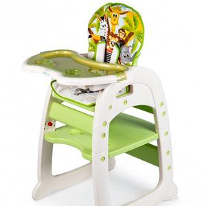 Eco Toys Jedálenský Stolička, Stolček 2V1 Safari, Zelená