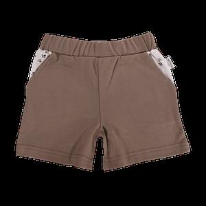 Dojčenské bavlnené nohavičky, kraťasky Mamatti Tlapka - hnedé, veľ. 104