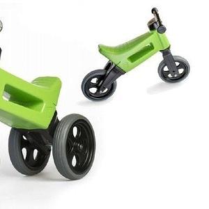 Teddies odrážadlo funny wheels new sport 2v1 zelenej výška sedadla nastaviteľná 27 / 30cm