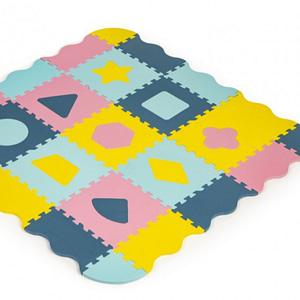 Eco Toys Detské Penové Puzzle 121,5X121,5Cm, Hracia Deka, Podložka Na Zem Tvary, 37 Dielov