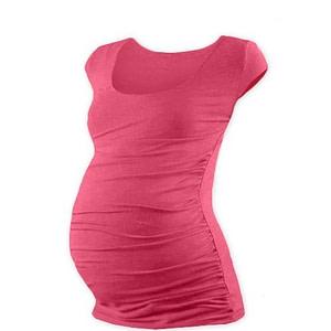 JOŽÁNEK Tehotenské tričko mini rukáv JOHANKA - lososovo ružová