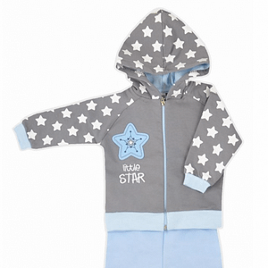 Koala Baby Sada Mikinka - Zapínanie Na Zips S Kapucňou + Tepláčiky, Hvězdička