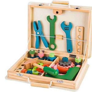 Eco Toys Drevený Kufrík S Náradím