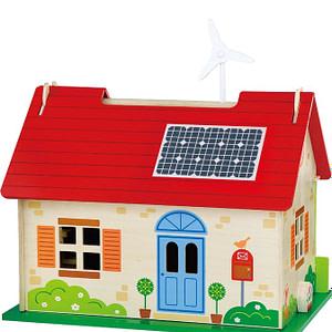 Detský drevený eko domček pre bábiky viga