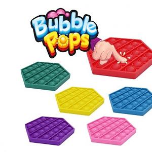 Bubble Pops Silikón Antistresová Spoločenská Hra 11X11cm 6 Farieb V Sáčku