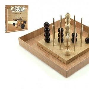 Teddies Piškvorky 3D podstavec + guličky drevo spoločenská hra v krabici