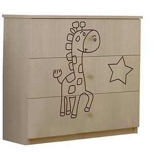 BabyBoo Detská komoda - Žirafka