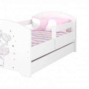 Babyboo Detská Posteľ 140 X 70 Cm - Baletka - Vrátane Šuplíku