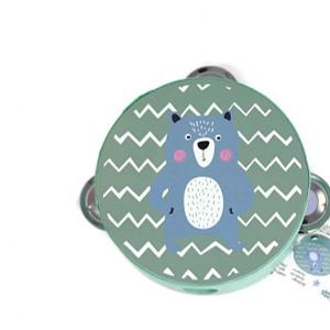 Adam Toys Detská tamburína medved - modrá