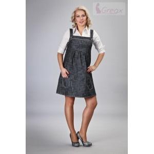 Gregx Elegantné Šaty - Čierny Melír