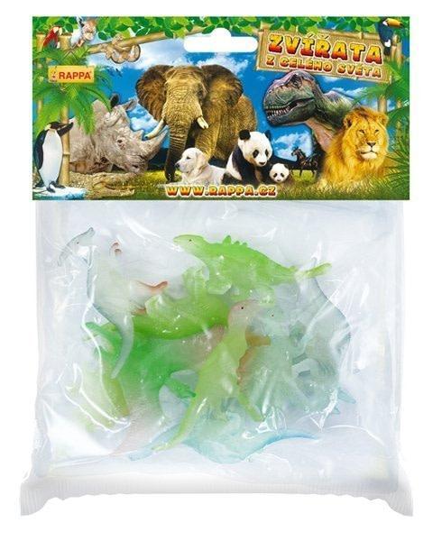 Rappa Dinosaury, svietia v tme, 9 ks v sáčku