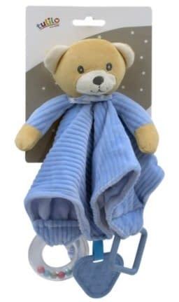 Túlil Přítulníček, Maznáčik S Hrkálkou A Hryzátkom Méďa Teddy - Modrý