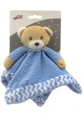 Tulilo Prítulníček, Maznáčik Méďa Teddy - Modrý, 25 X 25 Cm