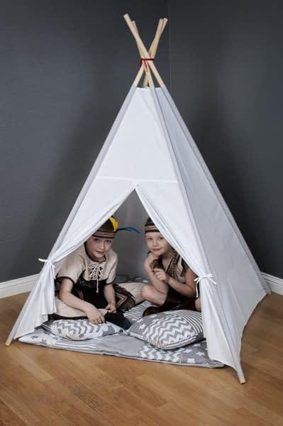 Stan pre deti teepee, típí bez výbavy - maroko sivé / žltý