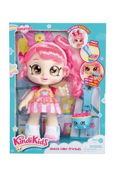 Bábika Donatina - Kind Kids 27Cm Plast Kývacie Hlavou Pevné Telo Kĺbová S Doplnkami V Krab