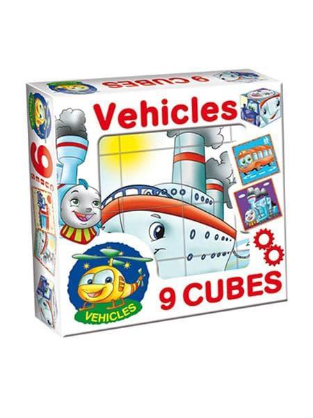 Skladacie Obrázkové Kocky Vehicles