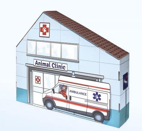 Tektorado Detská kartónová nemocnica pre zvieratká