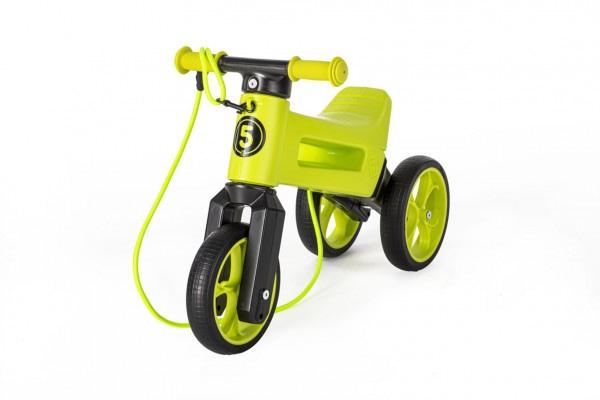 Odrážadlo funny wheels rider supersport zelené 2v1+popruh,vyššie. Sedla 28/30cm nos. 25kg 18m+ v sáč