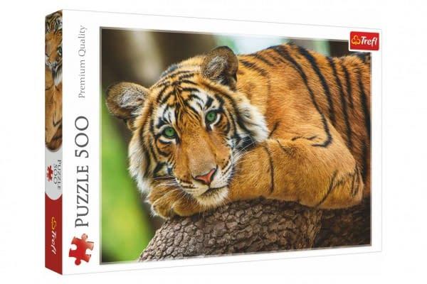 Puzzle portrét tigra 500 dielikov 48x34cm v krabici 40x27x4,5cm
