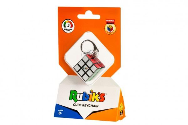 Rubikova Kocka Hlavolam 3X3x3 Prívesok Plast 3X3x3cm Na Karte