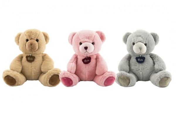 Medveď Plyš 40Cm 3 Farby V Sáčku 0+