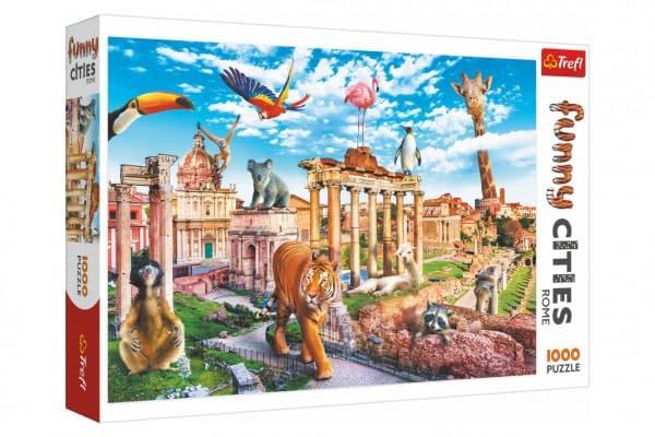 Puzzle Legrační Mesta - Divoký Rím 1000 Dielikov 68,3X48cm V Krabici 40X27x6cm