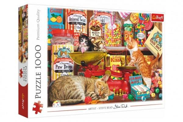 Puzzle Mačacie Sladkosti 1000 Dielikov 68,3X48cm V Krabici 40X27x6cm