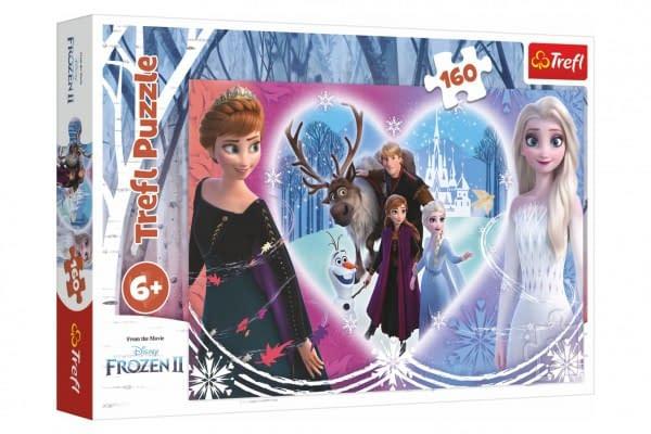 Puzzle Ľadové Kráľovstvo Ii / Frozen Ii Šťastné Chvíle 41X27,5Cm 160 Dielikov V Krabici 29X19x4cm