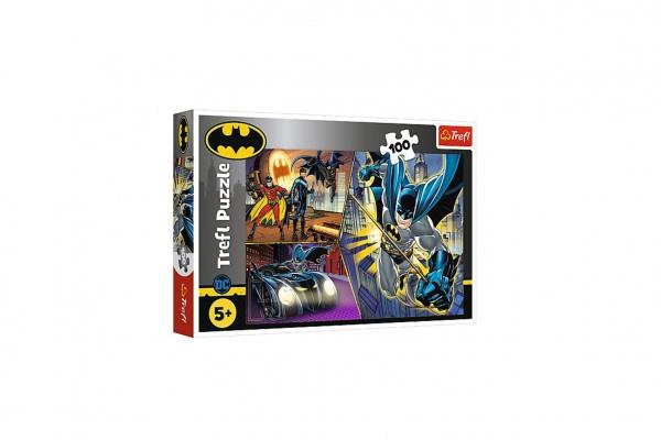 Puzzle Nebojácny Batman 100 Dielikov 41X27,5Cm V Krabici 29X19x4cm