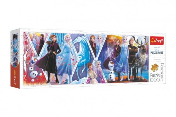 Puzzle Panoramatické Ľadové Kráľovstvo Ii / Frozen Ii 1000 Dielikov 97X34cm V Krabici 40X13,5X7cm