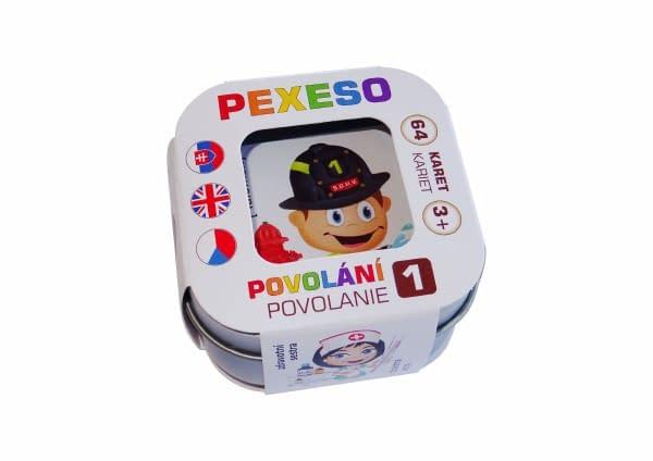 Pexeso Povolania Vodeodolné 64 Kariet V Plechovej Krabičke 6X6x4cm Hmaťák