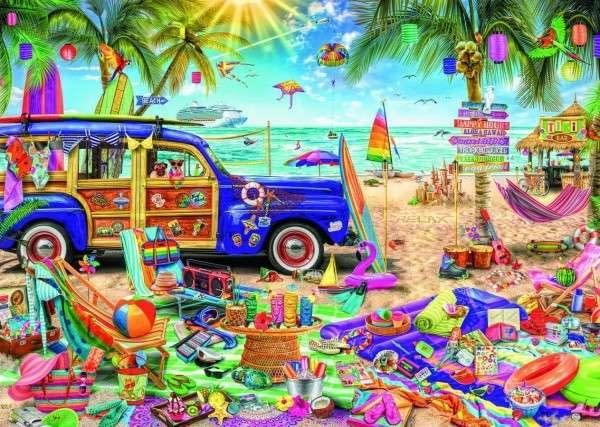 Puzzle tropická dovolenka 96,1x68,2cm 2000 dielikov v krabici 40x27x6cm