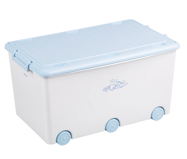 Tega Baby Pojazdný Box Na Hračky Zajáčik - Biely