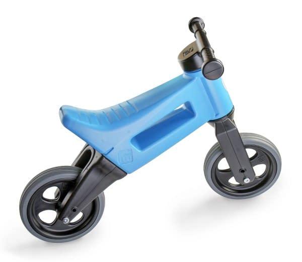 Odrážadlo funny wheels rider šport modrej 2v1, výška sedla 28 / 30cm nosnosť 25kg 18m + v sáčku