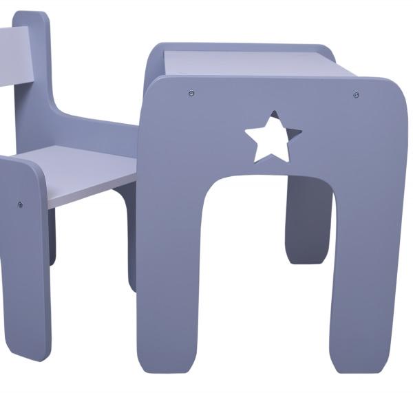 Nellys Sada Nábytku Star - Stôl + Stoličky - Sivá D19